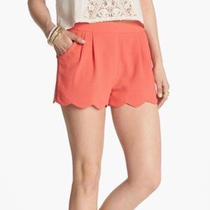 NWT Lush RED High Waisted Petal Shorts